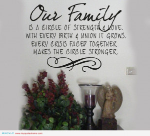 Our Family Is A Bible of Strengte ~ Family Quote