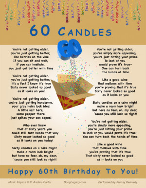 ... original 60th birthday song for a man 60 candles happy 60th birthday