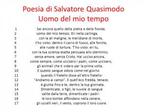 Presentazione Luomo del mio tempo Salvatore Quasimodo . Biografia ...
