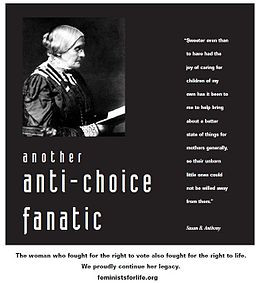 Susan B. Anthony image and quoted text, used by FFL to portray her as ...