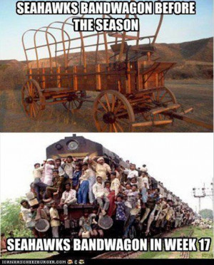 seattle seahawks band wagon, funny pictures