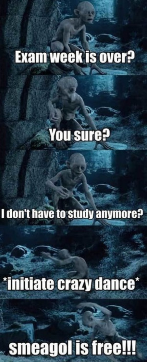 funny, gollum, hobbit, laugh, lord of the rings, omg, smeagol, so me ...