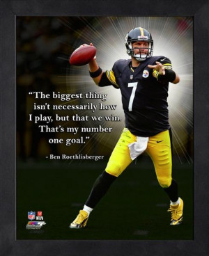 Pittsburgh Steelers Ben Roethlisberger Framed Pro Quote