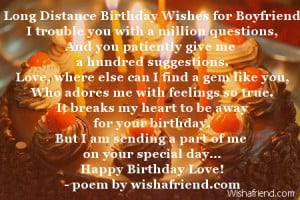 Happy Birthday Quotes for Boyfriend Long Distance