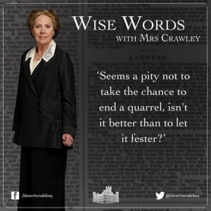 Mrs. Crawley in season 4 #quotes