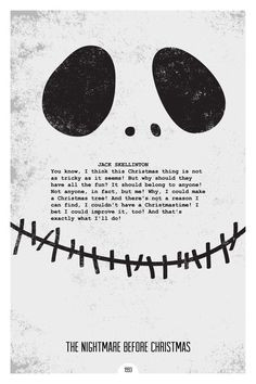 The nightmare before Christmas Movie Poster Quote More