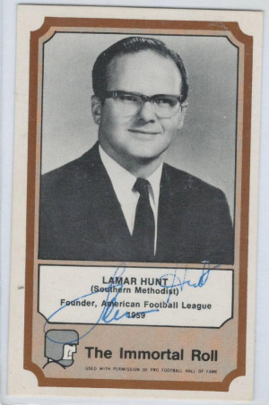 Lamar Hunt 1974 Fleer