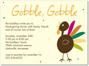 """ thanksgiving invitation featuring a cheerful and colorful turkey ..."