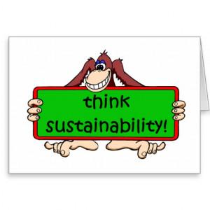 funny sustainability card