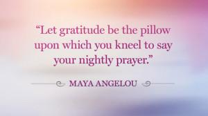 Maya Angelou Gratitude Quote