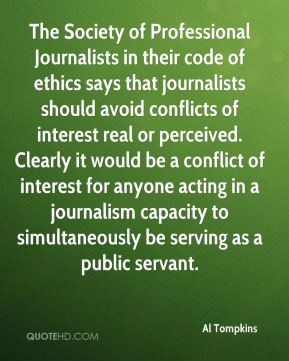 Al Tompkins - The Society of Professional Journalists in their code of ...