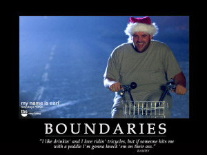 Society's boundaries. And why they aren't healthy boundaries.