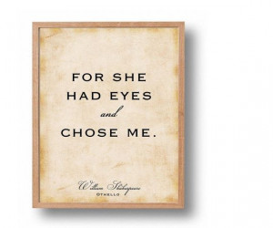 Othello Quote Print William Shakespeare by SapphoandTheMoon, $13.00