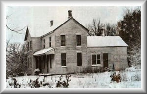 Ed Gein and his residence.