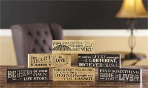 ... › Sentimental Gifts › Living Quotes Small Desk Blocks, 6/Asst