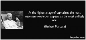 At the highest stage of capitalism, the most necessary revolution ...