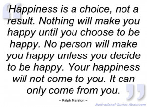 happiness is a choice ralph marston