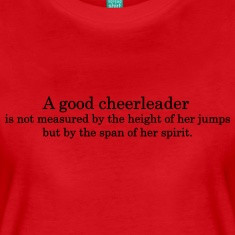 Cheer Quotes For Shirts Cheerleader quote 1 women's t-