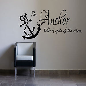 The-Anchor-Holds-Wall-Sticker-fishing-sailing-Bedroom-Quote-Vinyl ...