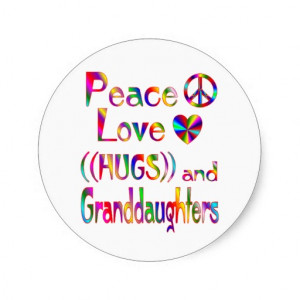 Granddaughter Hugs Stickers