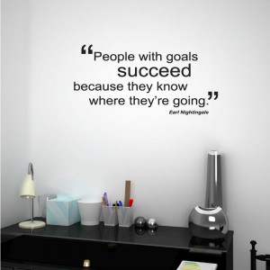 Goals lead to success wall quote
