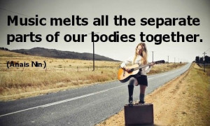 Great quotes on music as relaxation.