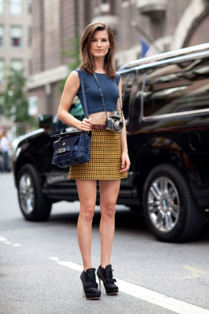 STREET STYLE SPRING 2013: NYFW – Hanneli Mustaparta shows some skin ...