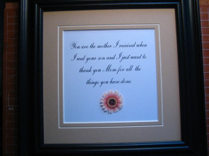 images of Mother In Law Quotes Etsy Listing 88289573 Framed Quote