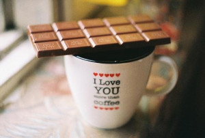 Love quotes and chocolate coffee sayings pictures