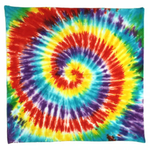 tie dyed hippie clothing tie dyed bandanas x spiral tie dyed bandana x ...