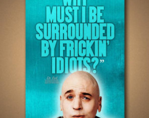 Dr Evil Quotes Evil quote poster