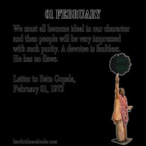 Srila Prabhupada Quotes For Month February 01