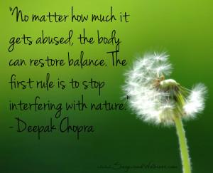 Health & Wellness Quotes - Restore Balance - Sagewood Wellness Center