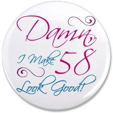 58Th Birthday Buttons, Pins, & Badges