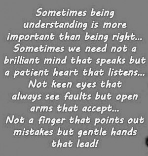 Love Quotes understanding brilliant speaks patient heart listens