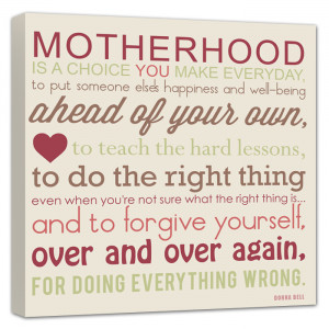 motherhood is quote