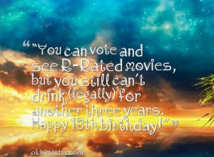 ... November 26th, 2014 Leave a comment wishes 18 year old birthday quotes