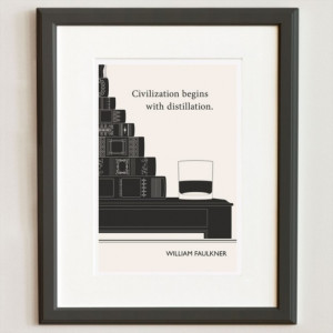 William Faulkner Distillation Quote Print by Little Brown Pen for ...