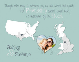 Custom Best Friend Gift, Moving Awa y Gift, Long Distance Friendship ...