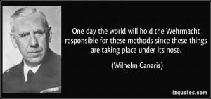 More Wilhelm Canaris Quotes