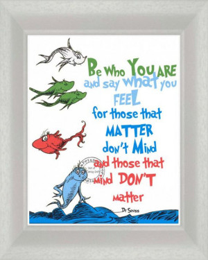 Dr Seuss Be Who You Are Digital Download Quote 8 x 10 via Etsy