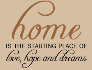 Catalog > Home Love Hope, Home Wall Art Decal Opt. 1
