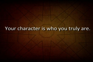 Character - Week 1 Quotes