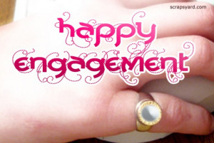 Happy engagement scrap