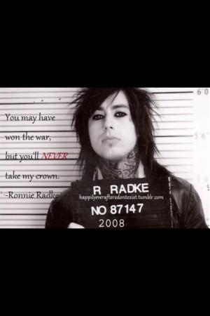 quote by Ronnie Radke