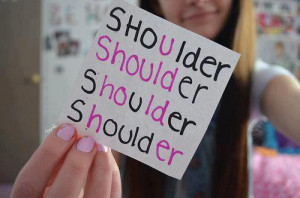 her, hold, quote, quotes, should, shoulder, text, u