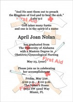Nursing Graduation Pinning Ceremony Invitations Announcements with ...