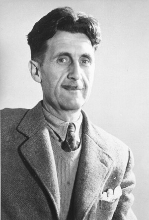 Indian-born English writer George Orwell (1903)