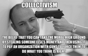 Collectivism the belief that you can take the moral high ground by ...