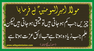 Sayings of Moula Ali Wallpaper by WilayatMission
